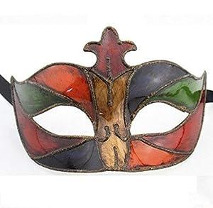 The Rubber Plantation TM 619219290425 - Máscara veneciana para disfraz de Halloween con efecto esmaltado, unisex, talla única