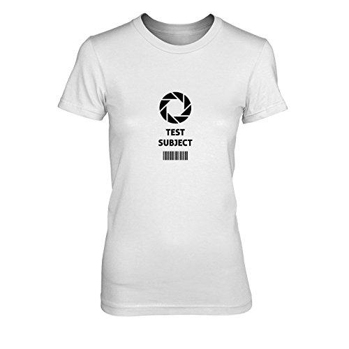 Aperture Test Subject - Damen T-Shirt, Größe: XL, Farbe: weiß