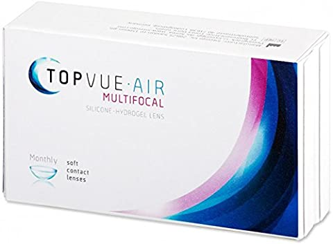 TopVue Air Multifocal Monatlinsen, 6 Stück / BC 8.6 mm