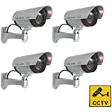 DUMMY SECURITY CAMERAS x 4 - Completely Realistic Dummy CCTV