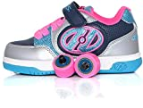 Heelys Plus X2 | Scarpe da Ginnastica a Due Ruote per Scarpe da Skate da Bambina (32 EU, Blue/Silver/Pink)