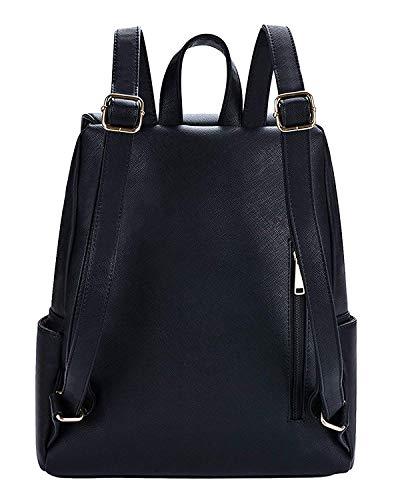 Diving Deep Black Casual Backpack for Stylish Girls Shoulder College/School Bag Image 3