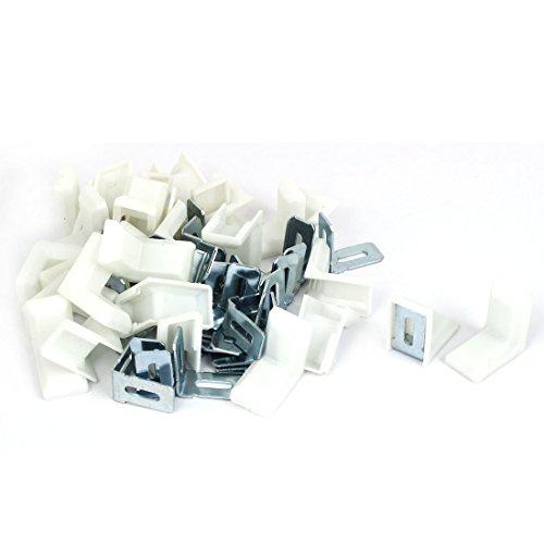 30 Stück 29x29mm Weiß Plastik Winkelverbinder Winkel Klammer Befestigungswinkel de