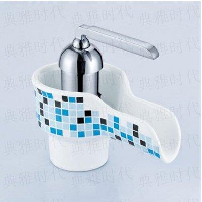 MangeooDas heiße und kalte Wasser Becken Kupfer Waschbecken führende europäische Keramik dunkel kreative Persönlichkeit, Mosaik - Mosaik Dunkel