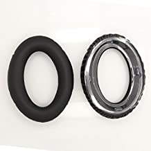 WARRAH Mudder 2 Pcs Foam Ear Pad, Elastic Sponge and PU Leather Ear Cushion Pads, Replacement Earpads Ear Pads Cushions for Sennheiser PXC350/450/350 HD380/380 Pro HMEC250 DHW-07