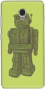The Racoon Lean printed designer hard back mobile phone case cover for Lenovo Vibe P1. (Wooden Fri)