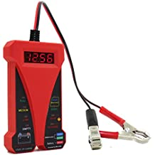 MOTOPOWER MP0514C 12 V Digital comprobador de batería voltímetro y sistema de carga analizador con pantalla LCD e indicador LED – Versión roja