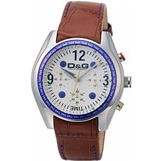 D&G Dolce&Gabbana DW0310 – Reloj analógico de caballero de cuarzo con correa de piel marrón – sumergible a 30 metros