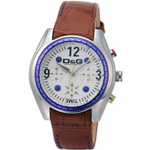 Dolce Gabbana - DW0310 - Montre Homme - Quartz Analogique - Chronographe - Bracelet en Cuir Marron