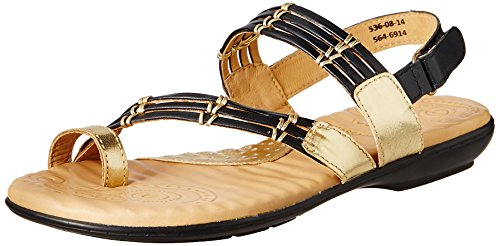 Dr. Scholls Women's Gold Sparkle Toe Rin Blue Leather Fashion Sandals - 5 UK/India (38 EU)(5646914)  available at amazon for Rs.1139