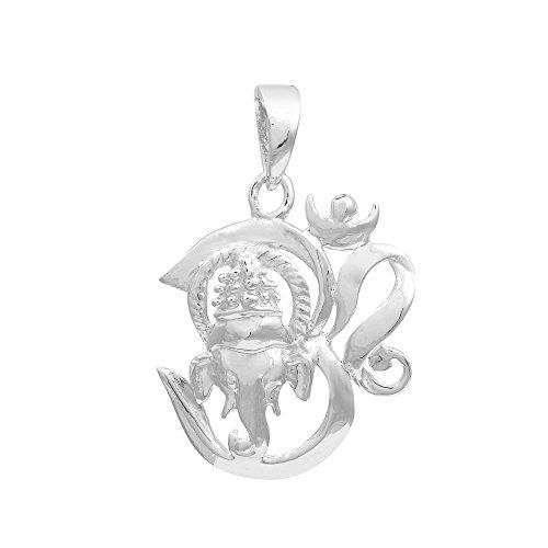 Shine Jewel 925 Sterling Silver om Ganesha relilgious Pendant ...