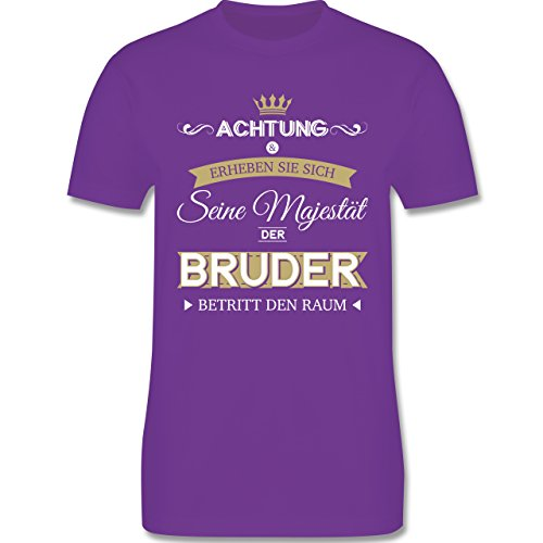Bruder & Onkel - Seine Majestät der Bruder - Herren Premium T-Shirt Lila
