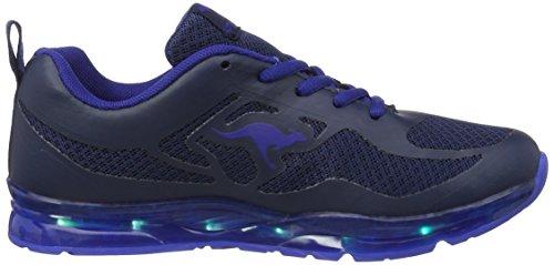 Kangaroos  K-lev Iii, chaussons d'intérieur mixte enfant Blau (Dk Navy/Royal)