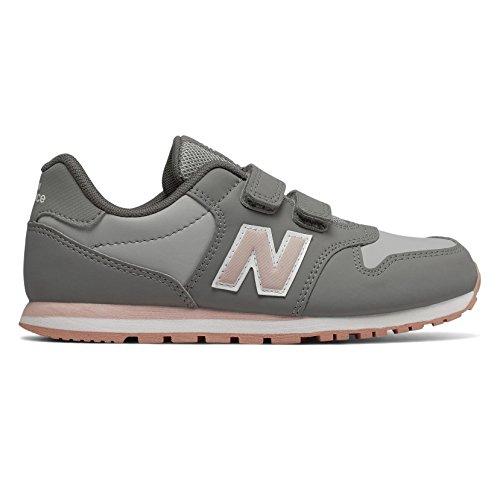 4766ab377ec Nueva Balance KV500 PGY Zapatos de bebé Rosa Gris Ganchos Zapatillas de  Deporte 32.5
