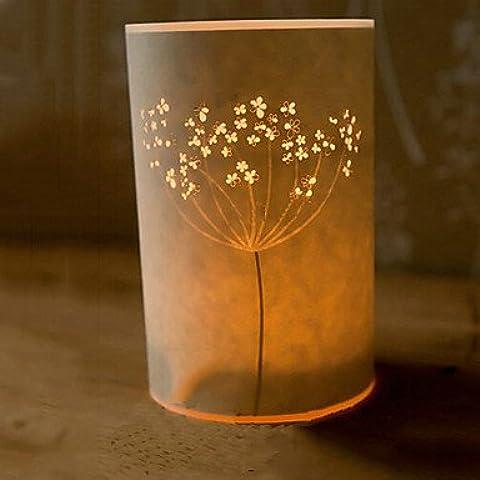 Bang lámpara de pie 1 luz pergamino novedad pantalla