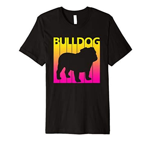 (Retro Englische Bulldogge Hund T-shirt - Bulldog Tshirt)
