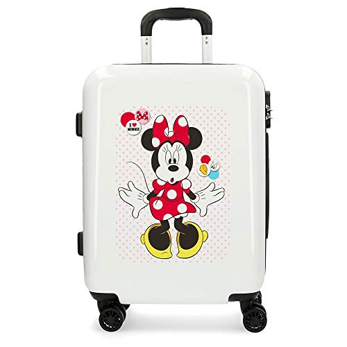 Disney Enjoy The Day Valigia per bambini 55 centimeters 37 Bianco (Blanco)
