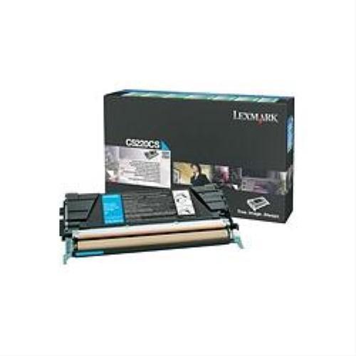 Preisvergleich Produktbild Lexmark C5220CS Toner-Kit cyan return program, 3.000 Seiten ISO/IEC 19798 für Lexmark C 522/524/530/532/534