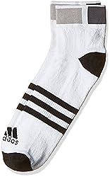 adidas Mens Plain Socks (AJ9672_4042_White and Black)
