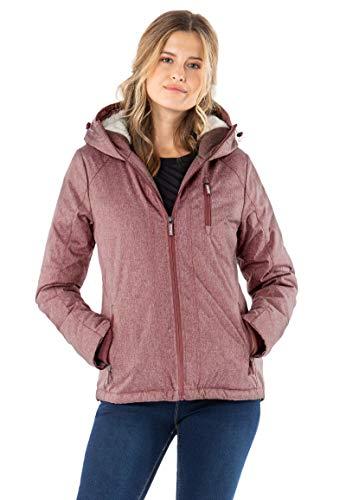 Sublevel Damen Übergangsjacke Winterjacke sportlich mit Kapuze Dark-Rose XL