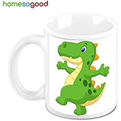 HomeSoGood Happy Dinosaur Coffee Mug