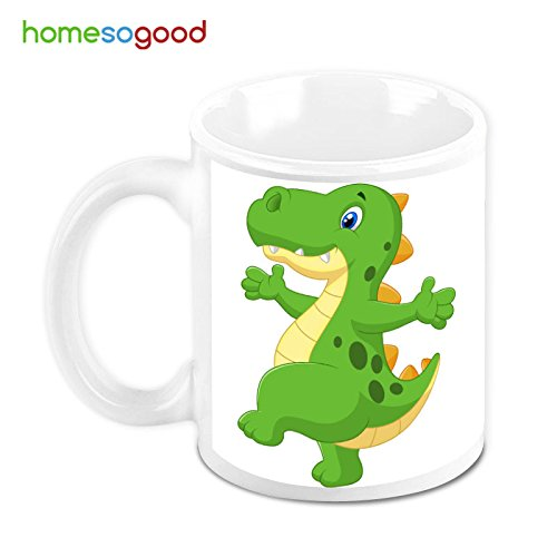 HomeSoGood Happy Dinosaur Coffee Mug