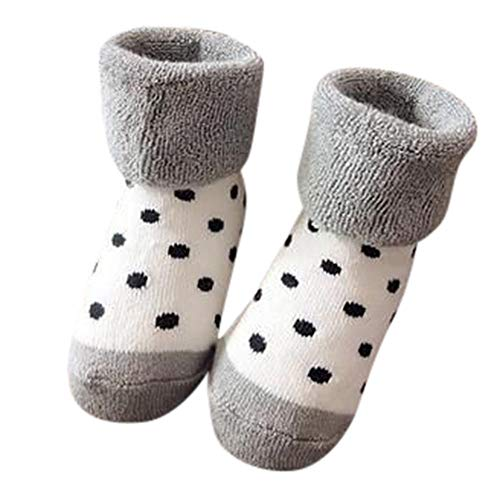 MAYOGO Baby Jungen&Mädchen Pure Cotton Strick Socks Plus Samt Verdickung Inner Weich Material Baumwoll Socken Niedlich Streifen und Tiermuster Socke Suit for 0-3 age