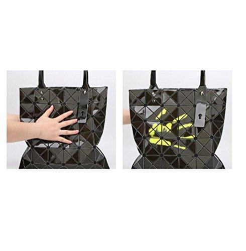Geometrische Ling Gitter Faltenden Schultertaschen Berühren Sie Die Farbe ändern Farbe Handtaschen D
