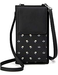 PARADOX (LABEL) Small Crossbody Phone Shoulder Bags Card Holder Wallet PurseBag for Girls, Black