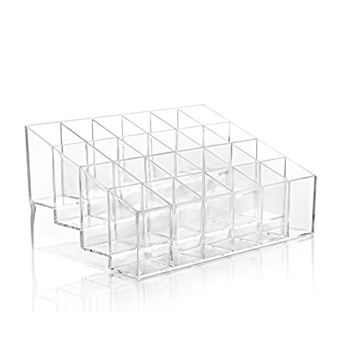 tonpot 1 PCS 24 Mulden Make Up Display Ständer, Plexiglas 24 Lippenstift Halter Display Ständer Kosmetik Organizer Make-up Aufbewahrungsbox -