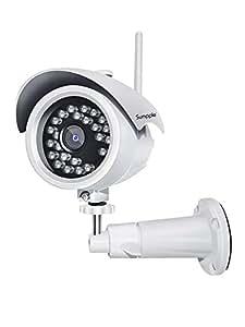 Sumpple Telecamera di Sorveglianza IP Camera Wifi/Cablato 1080P Videosorveglianza Digitale Interno, Visione Notturna, IP66 Impermeabile, Registrazione Video Rilevamento Movimento, Allarme Email