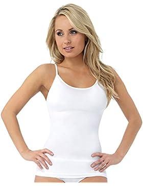 JML Belvia Camiseta modeladora para Mujer, transpirable, invisible, Elástico, Sin costuras, para Vientre y Cintura