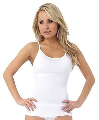 JML Belvia Ropa reductora Mujer Blusa Para Mujer Faja Reductora Adelgaza Chaleco Transpirable Invisible Elástico Sin costuras Barriga Vientre Cintura Adelgazador Control Reafirmante corsé Ajustado - sintético, Blanco, 100% poliamida 95% poliamida 5% elastano, mujer, Mediana
