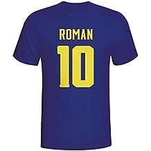 UKSoccershop Juan Roman Riquelme Boca Juniors Hero T-Shirt (Navy)