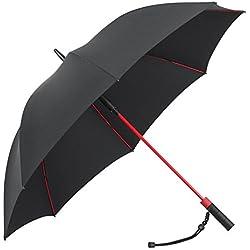 Plemo Paraguas Abierto Automático 8 Varillas Fibra de Vidrio de Alta Calidad con Estilo de Golf Grande del Paraguas, 120 cm de Diámetro, Repelente al Viento