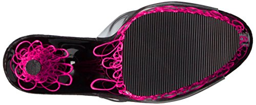Pleaser - Adore-701uvl, Sandali Donna Rosa (Clr/Blk-Neon Pink)
