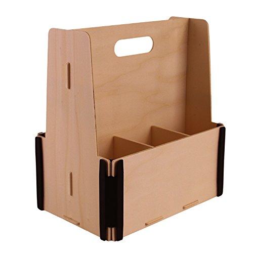 Pack de 3 originales y llamativas cajas de madera para cerveza (6 botellas). Ideal para hacer un regalo original o para almacenar botellas de cerveza en casa de forma ordenada. La madera esta sin tratar por lo que se pueden pintar o pegar etiquetas/p...