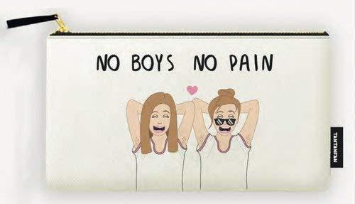 Estuche Las Rayadas. No boys, no pain
