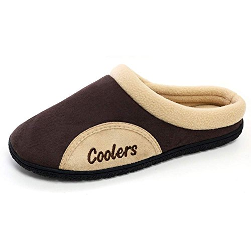 Mens Coolers Mule Clog Slippers with Memory Foam Insoles Sizes 7-12 (9-10 UK, Brown)