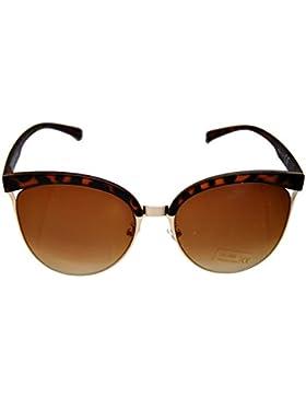 IRIS GLASS Gafas de sol de diseño, Bonitas y Elegantes, Armadura de policarbonato color carey y acero, Cristales...