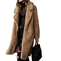 Womens Warm Long Coat Collar Casual Jacket Winter Parka Outwear Coats Faux  Fur Loose Autumn Winter abf611a58