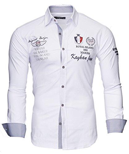Kayhan Herren Hemd Monaco Weiß (XL)