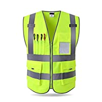 Awtang Awhao Reflective Vests Safety Vest Reflective Jacket Security KnittingCloth