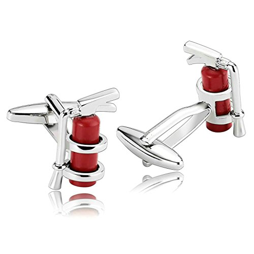 daesar-mens-stainless-steel-cuff-links-silver-red-enamel-fireman-fire-extinguisher-cufflink