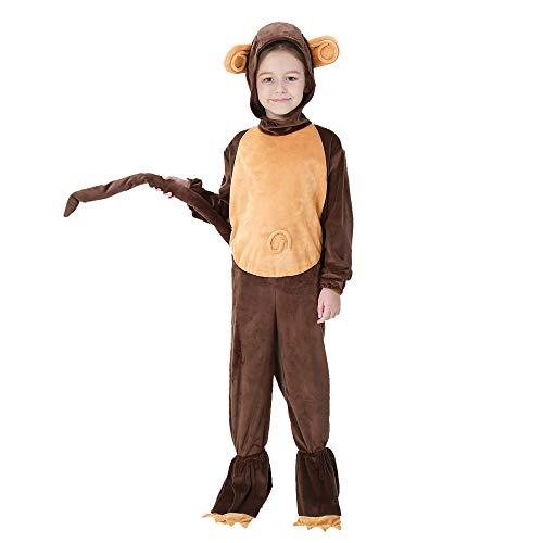 Halloween Karneval Kostüm Cosplay Overall Kostüm Für Kinder Mädchen Affetier Spielt Nach Hause Kleidung Cosplay,Metallisch,S (Monkey Kleinkind Und Kinder Kostüm)