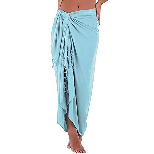 iHENGH Femme Plage Multifonction Couverture Solide en Maillot de Bain Sarong Cover-up Dress Smock