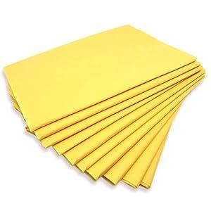 """Physiofit24 ®""""Premium PP70″ 10 Stück Waschfaserlaken gelb 80x210cm Vlieslaken ca. 400x waschbar Hygiene Auflage für die Behandlungsliege"""
