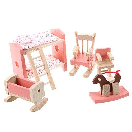 TOOGOO(R) Ensemble de meubles en bois pour la maison de poupee Jouet pour enfants