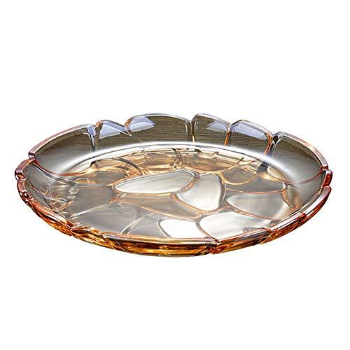 JANSUDY Wohnzimmer Kristallglas Snack Tablett Kann SüßIgkeiten/Pistazien/Erdnuss/Obst Gelagert Werden - Schale Zucker Crystal