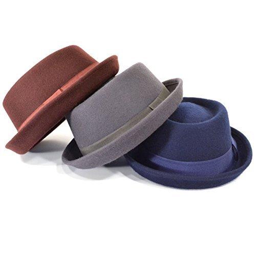 Chapeau chapeau trilby laine feutre 100% UNISEXE BANDE Fedora Jazz